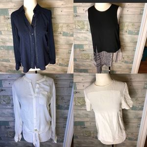 Lot of 4 XS blouses:theory, bcbg, Judith & Charles